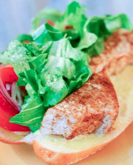 Blackened Swordfish Sandwiches