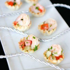 Shrimp Ceviche in Phyllo Cups