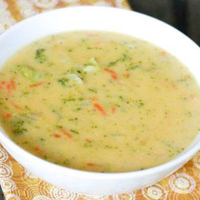 Broccoli Cheddar Cheese Soup 1