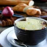 French Red Onion Soup @EclecticEveryday