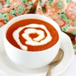 Roasted Red Pepper Tomato Soup @EclecticEveryday
