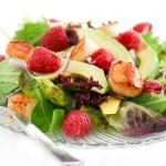 Raspberry and Scallop Salad