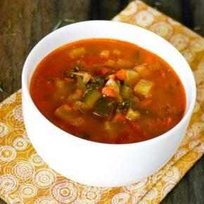 Garden Basil Pesto Soup