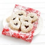 Heart Shaped Linzer Sandwich Cookies