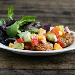 Crab Cakes with Tropical Salsa