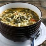 Spinach Tomato Orzo Soup @EclecticEveryday