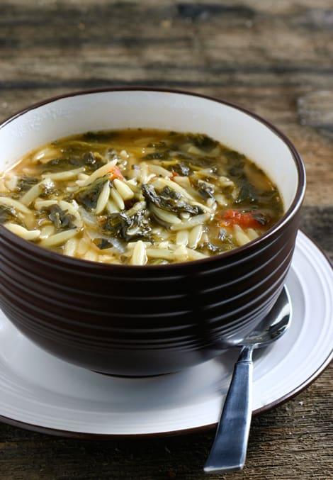 Spinach Tomato Orzo Soup Recipe