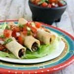 Black Bean Chicken Taquitos