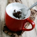 Chocolate Fluffernutter Mug Cake @EclecticEveryday