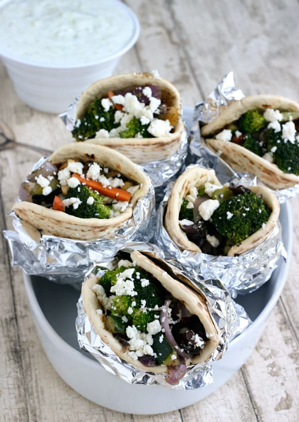 Sauteed Vegetable Gyros Recipe