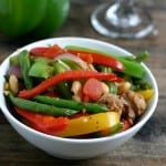 Italian Sausage and Peppers with Beans Bowl @EclecticEveryday