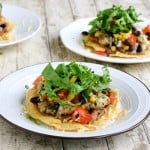 Chicken Tostadas with Black Beans and Sweet Corn @EclecticEveryday