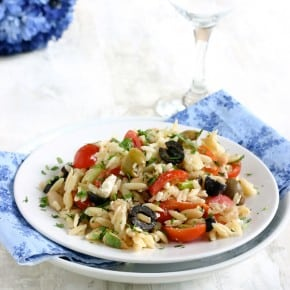 Orzo Salad with Cannellini Beans and Olives