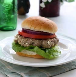 Greek Style Turkey Burgers with Feta 3