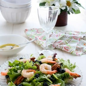 Blueberry Shrimp Salad with Lemon Dressing