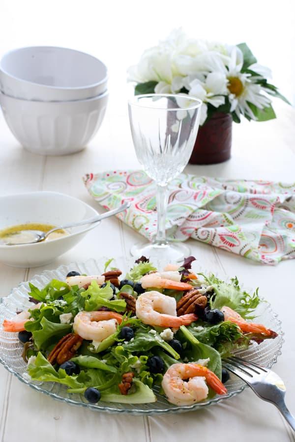 Blueberry Shrimp Salad with Lemon Dressing Recipe