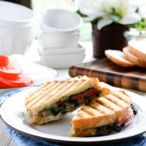 Portabello Mushroom and Basil Pesto Panini