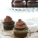 Caramel Filled Chocolate Cupcakes with Chocolate Buttercream @EclecticEveryday