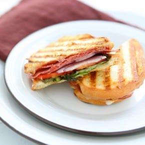 Panini with Italian Meats and Mozzarella
