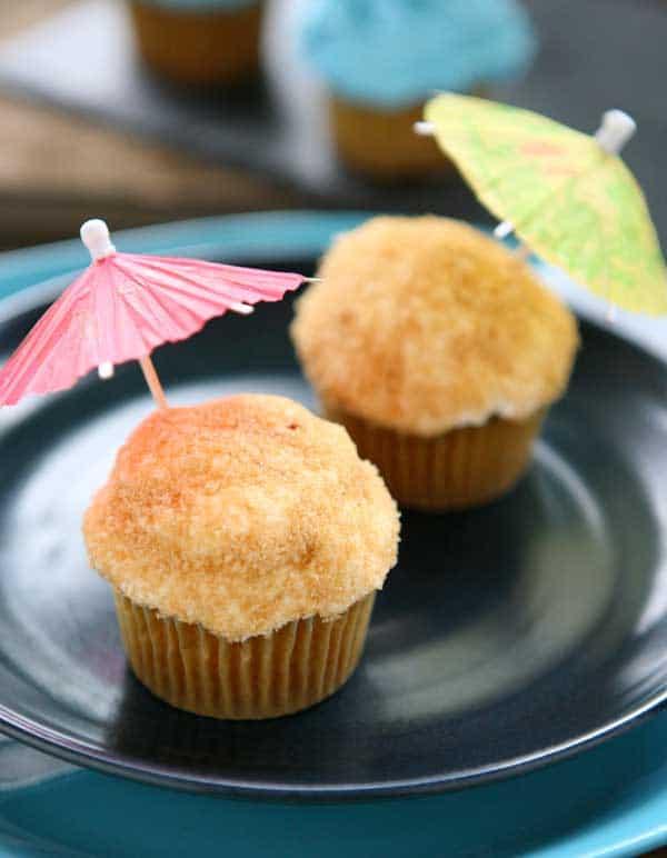 cupcakes blue plate