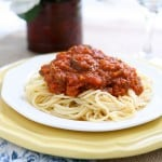 Slow Cooker Spaghetti Sauce @EclecticEveryday
