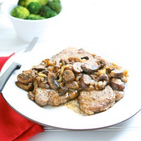 Steak with Mushroom Tequila Sauce