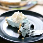 No Bake Blueberry Yogurt Pie @EclecticEveryday