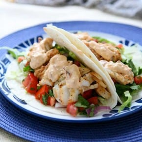 Grilled Fish Tacos with Chipotle Mayonnaise
