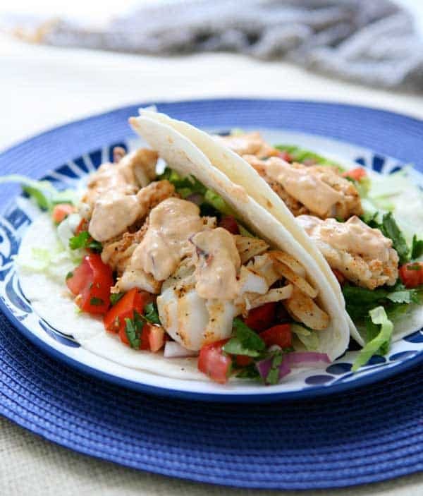 Grilled Fish Tacos with Chipotle Mayonnaise Recipe