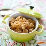 Peach and Apricot Almond Crisp @EclecticEveryday