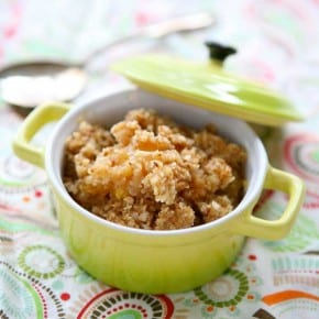 Peach and Apricot Almond Crisp