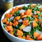 Butternut Sqaush Salad with Escarole @EclecticEveryday