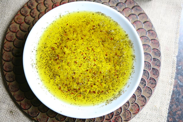 garlic and herbs olive oil