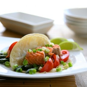 Salmon and Asparagus Tacos
