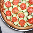 Zucchini and Roma Tomato Pizza @EclecticEveryday