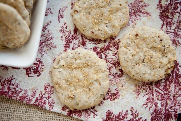 sparkling cookies overhead view