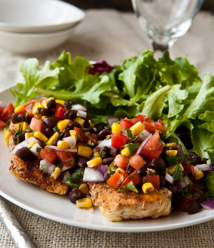 Eclectic Recipes Grilled Chicken With Black Bean Salsa