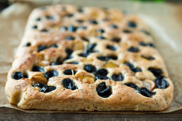 Roasted Garlic and Olive Focaccia Recipe