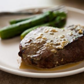 Grilled Steaks with Blue Cheese Garlic Sauce and a Giveaway 3