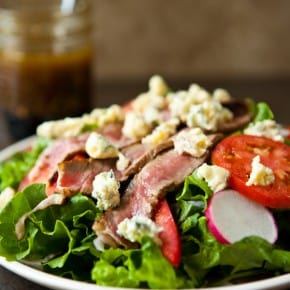 Summer Steak Salad and Shrimp Flatbread with Kerrygold Cheeses and Butter 4