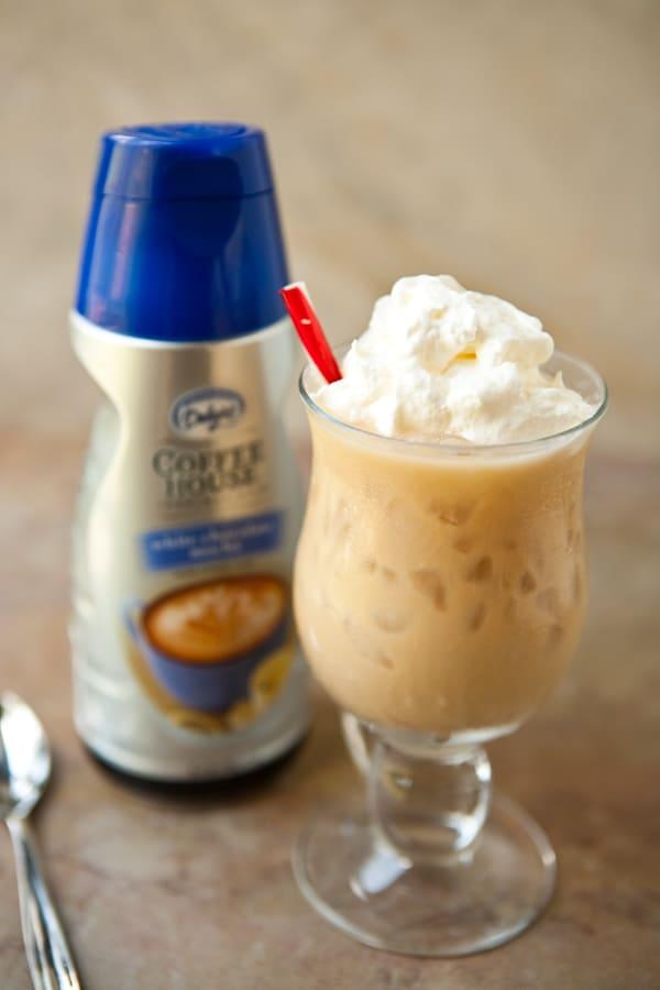 white chocolate mocha iced coffee