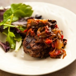 Grilled Steak with Tomato Mushroom Sauce 1