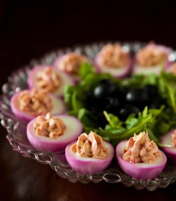 Beet Deviled Eggs and Cook for the Cure with KitchenAid Recipe