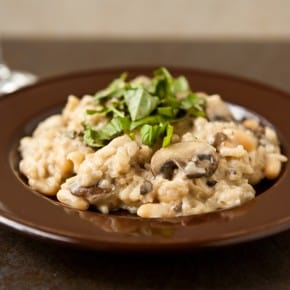 Easy Mushroom Risotto with Cannellini Beans 2
