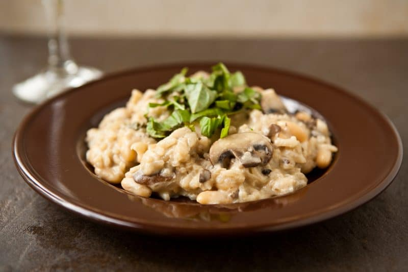 Eclectic Recipes Easy Mushroom Risotto with Cannellini ...