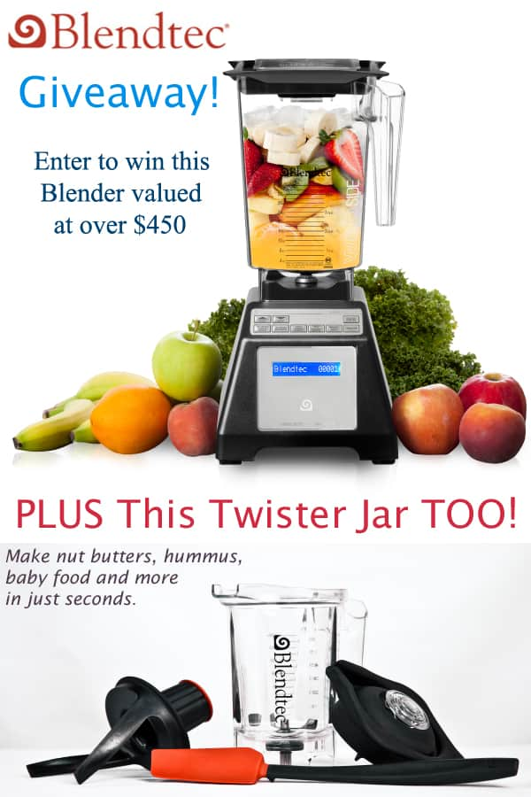 Agave Almond Butter and a Blendtec Giveaway  Recipe