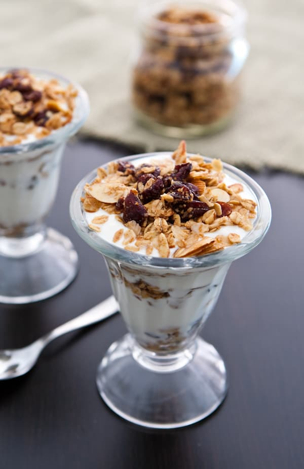 two glass of parfait with spoon