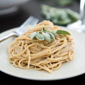 Chestnut, Sage and Prosciutto Spaghetti  4
