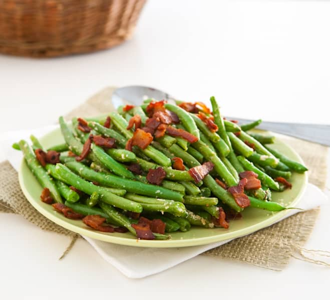 Eclectic Recipes Parmesan Ranch Roasted Green Beans