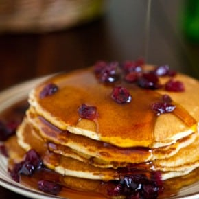 Cranberry Cornmeal Pancakes & {Walmart Gift Card Giveaway}  4